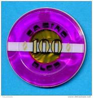 SLOVENIA, CASINO TOKEN, JETON, Casino Bled, Pre 1999, Rare 100  ATS Face Value - Casino