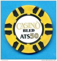 SLOVENIA, CASINO TOKEN, JETON, MAGNETIQUE, Casino Bled, Pre 1999, Rare 50  ATS Face Value - Casino