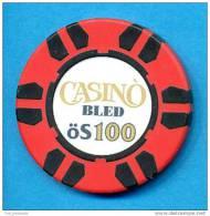 SLOVENIA, CASINO TOKEN, JETON, MAGNETIQUE, Casino Bled, Pre 1999, Rare 100  ATS Face Value - Casino