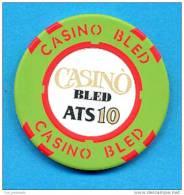 SLOVENIA, CASINO TOKEN, JETON, MAGNETIQUE, Casino Bled, Pre 1999, Rare 10  ATS Face Value - Casino