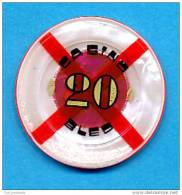 SLOVENIA, CASINO TOKEN, JETON, Casino Bled, Pre 1999, Rare 20  ATS Face Value - Casino