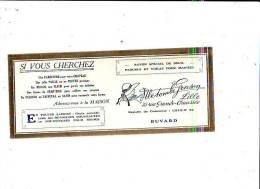 Lille - Buvard + Pub - Chapeau - Maison Gruson - Buvards, Protège-cahiers Illustrés