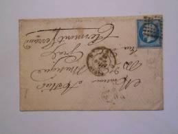L106. Lettre De   Paris GL D!verso .Paris A Clermont C .a Voir.variété Filet - 1862 Napoléon III