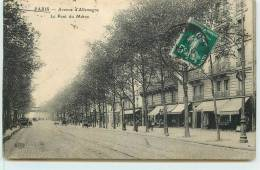 PARIS  -Avenue D'Allemagne, Le Pont Du Métro. - Arrondissement: 19