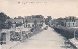 21302 Rethondes - L'Entrée Du Pays _ éd Hénon. Vélo Contre Le Parapet -