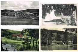 4 AK Georgsmarienhütte/Oesede - Badeanstalt, Kirche, Dörenberg, Landschaft - Georgsmarienhütte