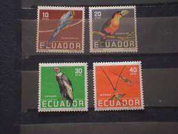 EQUADOR - 1958 PITTORICA 4 Valori - NUOVI(+)-TEMATICHE - Ecuador