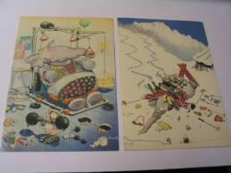 EL- 2 CARTES ..HUMOUR..SIGNE ALEX - Andere Illustrators