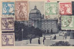 ZGB32  --  ZAGREB  -  1920  -  STAMP ON FRONT  --  VERIGARI, CHAINBREAKERS, KETTENSPRENGER - 1919-1929 Königreich Der Serben, Kroaten & Slowenen