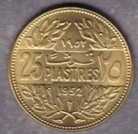 @Y@  Libanon  25 Piaster  1952    UNC  ( 1988 ) - Liban