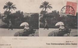 NICE ( Jardin Public ) - Cartes Stéréoscopiques