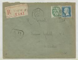 1926 - ENVELOPPE RECOMMANDEE Avec AR De CAEN - PASTEUR - Storia Postale