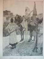 Insurrection Au Maroc , émeute Aux Environs De Tanger , Gravure De Naumann D'aprés Dessin De Woodville 1892 - Documents Historiques