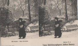 PARIS ( Parc Monceau ) - Cartes Stéréoscopiques