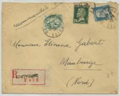 1926 - ENVELOPPE RECOMMANDEE De MONTROUGE (HAUTS DE SEINE) - PASTEUR - Storia Postale