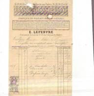 Bruxelles - 1879 - E. Lefebvre - Grande Maison De Blanc - België