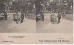 PARIS ( Jardin D'acclimatation.- La Voiture Aux Chevres ) - Cartes Stéréoscopiques