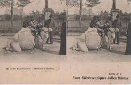 PARIS ( Jardin D'acclimatation..- Depart Sur Le Cham.eau ) - Stereoscope Cards