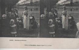 PARIS ( Bambins Et Nounous ) - Cartes Stéréoscopiques