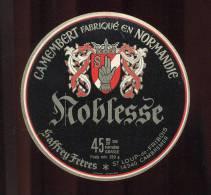 Etiquette De Fromage  Camembert  -  Noblesse  -  Saffrey Frères  à St Loup De Fribois (Calvados) - Formaggio