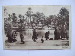 TUNISIE  - ROC -   GABES -  UNE OASIS - Tunesië