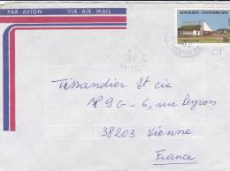 MARCOPHILIE, République Centrafricaine, 228 Seul Sur Lettre, Cachet 1980 BANGUI, Afrique Malgache/2119 - Centrafricaine (République)