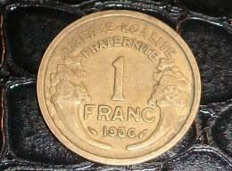 1 Franc Type Morlon Bronze-Aluminium 1936 - France