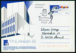 Finnland  1986  Briefmarkenausst. FINLANDIA 88 - Ausstellungsgelände Und Fahnen  (1 Brief  Kpl. )  Mi: P 157 (3,00 EUR) - Finlande