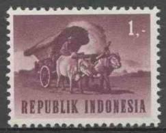 Indonesia Indonesie 1964 Mi 450 ** Ox-cart / Ochsenwagen / Voiture Du Boeuf / Ossenkar - Transportmiddelen