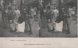 PARIS ( La Soupe Aux Halles ) - Cartes Stéréoscopiques