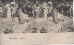 PARIS ( Jardin D'acclimatation. Femme Achanti Et Son Enfant ) - Stereoskopie