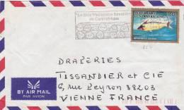 MARCOPHILIE, République Centrafricaine, 854 Seul Sur Lettre, Cachet 1991 BANGUI, Poisson./2182 - Zentralafrik. Republik