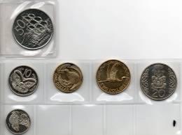 NUOVA ZELANDA Set Di 6 Monete FDC-UNC - Nuova Zelanda