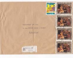 MARCOPHILIE, Centrafrique, Affranchissement Composé, Cachet 1985 , BANGUI, Tableau./6011 - Zentralafrik. Republik