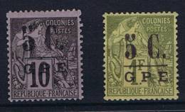 Guadeloupe : Yv  10 + 11 MH/* , Maury Cat Value € 40 - Guadeloupe (1884-1947)