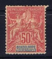 Guadeloupe : Yv  37 Not Used (*), Maury Cat Value € 40 - Ongebruikt