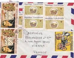 MARCOPHILIE, Centrafrique, Affranchissement Composé, Cachet 1986 BANGUI, Echec, Artisanat Voiture./2209 - Zentralafrik. Republik