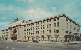Exterior Of Canadian National Railway Station, Western Headquarters, Winnipeg, Manitoba, Canada, 40-60's - Winnipeg