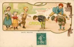 Publicité, Grands Magasins Habillement Esders, Cp Illustrée Genre Ebner, Enfants Qui Jouent à Saute-mouton - Werbepostkarten
