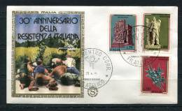 """Italy 1975 First Day Cover Special Cancel  Colorano \""""Silk\"""" Cachet - 6. 1946-.. Republic"""