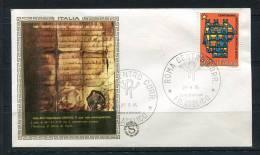 "Italy 1975 First  Day Special Cancel Cover Colorano \""Silk\"" Cachet - 6. 1946-.. República"