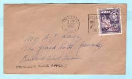 MALTA Brief Cover Lettre 230 König Georg VI. Self Government - Nach GRENADA - SST Slogan Cachet (2 Scan)(2 Scan) (23900) - Malta
