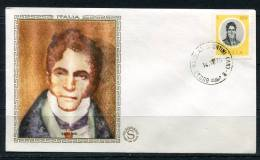 """Italy 1975 First  Day Special Cancel Cover Colorano \""""Silk\"""" Cachet  Misic  G.Spontini - 1946-.. République"""
