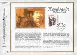"""FRANCE 2006 : CEF 1° Jour En SOIE N° 1855s """" REMBRANDT """" N° YT 3984. Parfait état."""