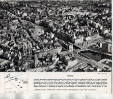 RENNES LE CENTRE VILLE VUE GENERALE     / FINISTERE 29 PHOTO FORMAT 24X20CM EDITION 1962 - Lieux