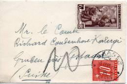 ITALIE LETTRE TAXEE EN SUISSE 1951 - 6. 1946-.. Republik