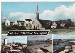 1077 Cpsm Carte Multi Vue Saint Philibert Trévignon - Autres Communes