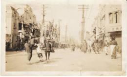 Yokoham Japan Street Scene, Kimono Fashion Business Signs, Bicycles On C1930s Vintage Photograph - Places