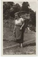 Costume Ticinese Woman Agriculture Tools, Farming Fashion, Feldpost WWII(?), C1940s Vintage Real Photo Postcard - TI Ticino