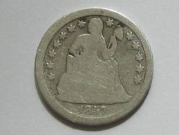 Etats-Unis -USA- One 1 Dime 1857 United States Of America - Federal Issues